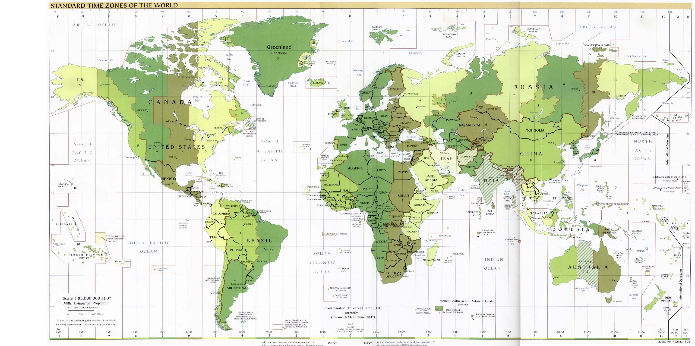 世界地图 彩色 英文标示